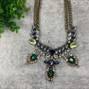 Baublebar Crystal Gold Statement Necklace A3927